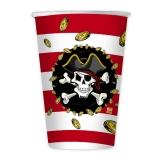 Pahare 200 ml Pirati 8 buc/set Big Party