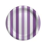 Farfurii 18 cm Dungi Violet 8 buc/Set Big Party