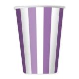 Pahare 200 ml Dungi violet 8 buc/set Big Party