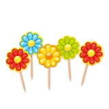 Scobitori Decorate Flori 4 x 7 cm 25 buc/Set Big Party