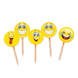Scobitori Decorate Emoticoane 4 x 7 cm 25 buc/Set Big Party