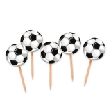 Scobitori Decorate Mingi de Fotbal 4 x 7 cm 25 buc/Set Big Party