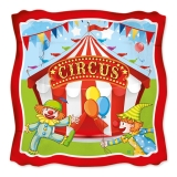 Farfurii 24 cm Circus Party 8 buc/Set Big Party