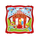 Farfurii 19 cm Circus Party 8 buc/Set Big Party