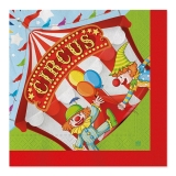 Servetele 33 x 33 cm Circus Party 20 buc/Set Big Party