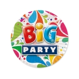 Farfurii 18 cm Big Party 8 bucati/set Big Party