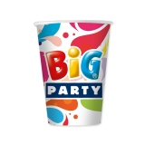 Pahare 200 ml Big Party 8 bucati/set Big Party