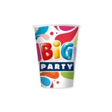 Pahare 80 ml 10 bucati/set Big Party