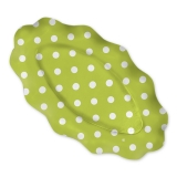 Platou Oval 36 x 20 cm Pois Verde 3 buc/Set Big Party