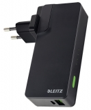 Incarcator si baterie USB negru Complete Leitz