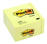 Notite adezive Post-it® cub galben 76 x 76 mm 3M