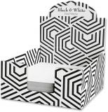 Cub hartie + Cutie carton, 9 x 9 cm, Black & White