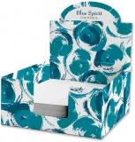 Cub hartie + Cutie carton, 9 x 9 cm, Blue Spirit
