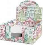 Cub hartie + Cutie carton, 9 x 9 cm, Colorful City