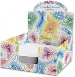 Cub hartie + Cutie carton, 9 x 9 cm, Colorful Waves