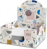 Cub hartie + Cutie carton, 9 x 9 cm, Geometries
