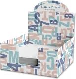 Cub hartie + Cutie carton, 9 x 9 cm, Letters Puzzle
