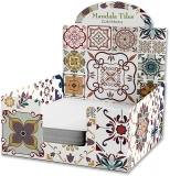 Cub hartie + Cutie carton, 9 x 9 cm, Mandala Tiles