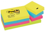 Notite adezive neon Dynamic Post-It® 12 buc/set 38 mm x 51 mm 100 file/buc 3M