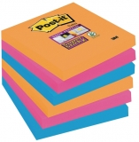 Notite adezive Super Sticky™, 76 x 76 mm, 90 file/bucata, 6 bucati/set Post-it® 3M