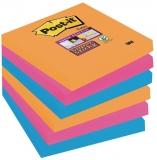 Notite adezive Super Sticky™, 76 x 76 mm, 90 file/bucata, 6 bucati/pachet Post-it® 3M