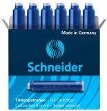Patroane cerneala mici, albastru, 6 buc/set Schneider