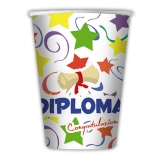 Pahare 200 ml Diploma 10 buc/set Big Party