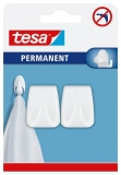 Carlig permanent rectangular L alb 2 bucati/set Tesa