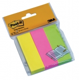 Notite adezive page markers Post-It® 3 buc/set  25 mm x 76 mm 100 file/buc 3M