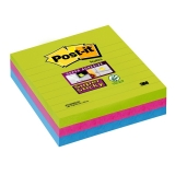 Notite adezive pentru conferinte Super Sticky Post-It® 100 x 100 mm 3M