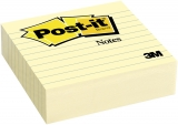 Notite adezive Post-it® Liniate 100 mm x 100 mm, 300 file/bucata 3M