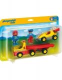 1.2.3 Masina De Curse Cu Remorca Playmobil