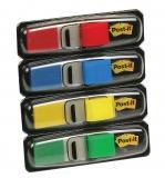 Index autoadeziv mini Post-It® 4 culori clasice, 35 buc/culoare, 140 buc/set 3M