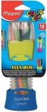 Creioane colorate 12 culori Color Peps cutie Flex diverse modele Maped