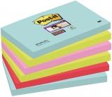 Notite adezive Post-it ® Super Sticky Miami 6 buc/set 76 x 127 mm 90 file/buc mix culori 3M