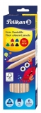 Creioane colorate 6 culori triunghiulare Pelikan