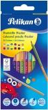 Creioane colorate Bicolor, 24 culori, 12 buc/set Pelikan