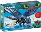 Hiccup, Toothless Si Pui De Dragon Playmobil