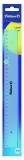 Rigla plastic 30 cm albastru transparent Pelikan