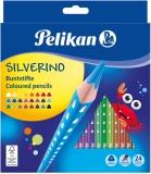 Creioane colorate Silverino, 3 mm, 24 culori/set Pelikan
