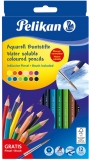Creioane color, solubile in apa, 3 mm, 12 culori/set Pelikan