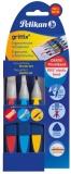 Pensula griffix, 3 buc/set (varf lat : 12; 6 + varf rotund : 6) blister Pelikan