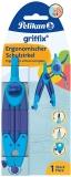 Compas scolar ergonomic Griffix, culoare albastru, Pelikan