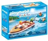 Barca Cu Motor Si Colacuri Playmobil