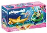 Regele Marii Cu Trasura Rechin Playmobil