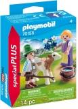 Figurina Copii Cu Vitel Playmobil