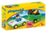 1.2.3 Masina Cu Remorca Si Calut Playmobil