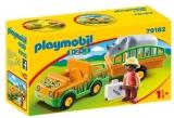 1.2.3 Masina Zoo Cu Rinocer Playmobil