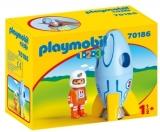 1.2.3 Astronaut Cu Racheta Playmobil