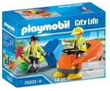 Agenti De Salubritate Cu Masina Playmobil
